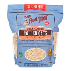 BOB'S RED MILL GLUTEN FREE QUICK COOKING ROLLED OATS 28 OZ POUCH