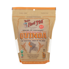 BOB'S RED GLUTEN FREE ORGANIC WHOLE GRAIN QUINOA 26 OZ POUCH