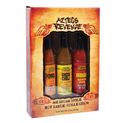 AZTECS REVENGE 3 PC HOT SAUCE SET 9 OZ