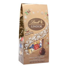 LINDT LINDOR HOLIDAY ASSORTED TRUFFLES 8.5 OZ BAG