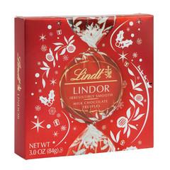 LINDT LINDOR MILK CHOCOLATE TRUFFLES ICON 3.8 OZ GIFT BOX
