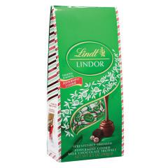 LINDT LINDOR PEPPERMINT COOKIE TRUFFLES 8.5 OZ BAG