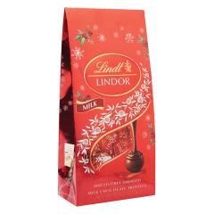 LINDT LINDOR HOLIDAY MILK CHOCOLATE TRUFFLES 8.5 OZ BAG