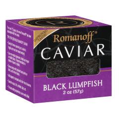 ROMANOFF BLACK LUMPFISH CAVIAR 2 OZ