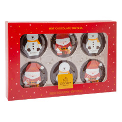 GODIVA HOT CHOCOLATE TOPPERS 6 PC 1.4 OZ