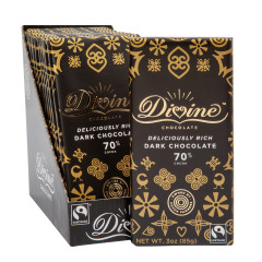 DIVINE 70% DARK CHOCOLATE 3 OZ BAR