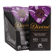 DIVINE 85% DARK CHOCOLATE 3 OZ BAR