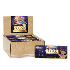 AMUSEMINTS NEW YEARS 2020 MILK CHOCOLATE WITH POPPING CANDY 1.75 OZ BAR