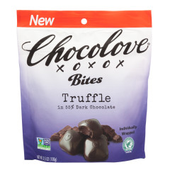 CHOCOLOVE DARK CHOCOLATE TRUFFLE BITES 3.5 OZ POUCH