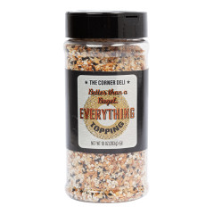 THE CORNER DELI SEASONING BETTER THAN A BAGEL EVERYTHING TOPPING 10 OZ SHAKER
