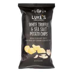 LUKE'S ORGANIC URBANI WHITE TRUFFLE & SEA SALT POTATO CHIPS 4 OZ BAG