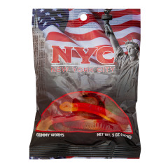 NYC SOUVENIR AMERICAN FLAG 5 OZ DIGIBAG WITH GUMMY WORM