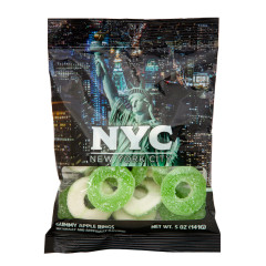 NYC SOUVENIR STATUE OF LIBERTY 5 OZ DIGIBAG WITH GUMMY APPLE RINGS