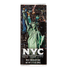 NYC SOUVENIR LIBERTY 1.75OZ MILK CHOCOLATE WRAPPER BAR