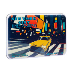 NYC SOUVENIR TIMES SQUARE MILK CHOCOLATE SEA SALT CARAMEL 4.02 OZ TIN
