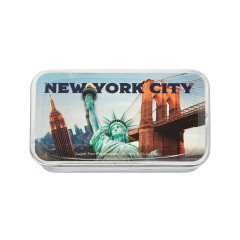 NYC SOUVENIR PEPPERMINT STATUE OF LIBRTY 0.56 OZ SLYDER TIN