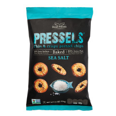 PRESSELS PRETZEL CHIPS SEA SALT 7.1 OZ POUCH
