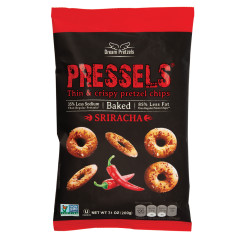 PRESSELS PRETZEL CHIPS SRIRACHA 7.1 OZ BAG