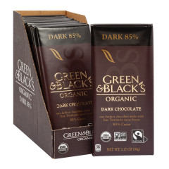 GREEN & BLACK'S ORGANIC 85% DARK CHOCOLATE 3.17 OZ