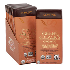 GREEN & BLACK'S ORGANIC MILK CHOCOLATE WITH ALMOND 3.17 OZ