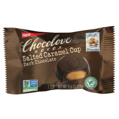 CHOCOLOVE DARK CHOCOLATE SALTED CARAMEL CUPS 0.6 OZ