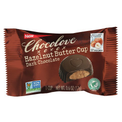 CHOCOLOVE DARK CHOCOLATE HAZELNUT BUTTER CUPS 0.6 OZ