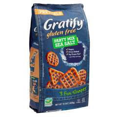 GRATIFY GLUTEN FREE PRETZEL PARTY MIX 10.5 OZ
