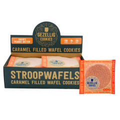 GEZELLIG COOKIES DAVID'S PEANUT BUTTER STROOPWAFELS 16 CT *FL DC ONLY*