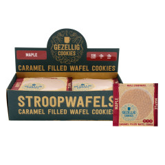 GEZELLIG COOKIES MAPLE STROOPWAFELS 16 CT *FL DC ONLY*