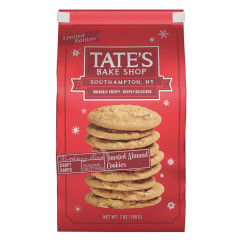 TATE'S COOKIES HOLIDAY TOASTED ALMOND 7 OZ BAG