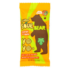 BEAR YOYOS SUPER SOUR MANGO APPLE SINGLES 0.7 OZ