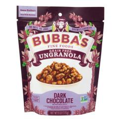 BUBBA'S DARK CHOCOLATE UNGRANOLA 6 OZ PEG BAG