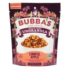 BUBBA'S CINNFUL APPLE UNGRANOLA 6 OZ PEG BAG