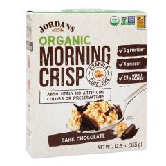 JORDANS ORGANIC DARK CHOCOLATE MORNING CRISP 12.5 OZ BOX