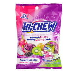 HI CHEW SUPERFRUIT 3.17 OZ PEG BAG