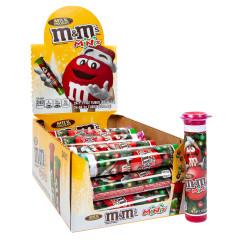 M&M'S CHRISTMAS MINI MILK CHOCOLATE M&M'S 1.7 OZ MEGA TUBE