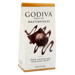 GODIVA MASTERPIECES DARK CHOCOLATE GANACHE 4.9 OZ BAG