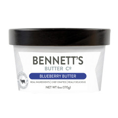 BENNETT'S BUTTER CO. BLUEBERRY BUTTER 6 OZ TUB