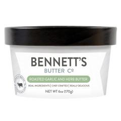 BENNETT'S BUTTER ROASTED GARLIC & HERB 6 OZ TUB