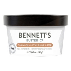 BENNETT'S BUTTER CO. CINNAMON & BROWN SUGAR BUTTER 6 OZ