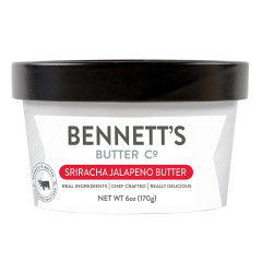 BENNETT'S BUTTER CO. SRIRACHA JALAPENO BUTTER 6 OZ TUB