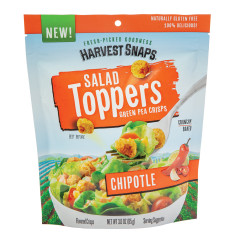 CALBEE HARVEST SNAPS CHIPOTLE SALAD TOPPER 3 OZ PEG BAG