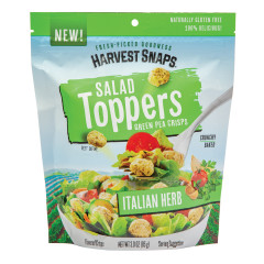 CALBEE HARVEST SNAPS ITALIAN HERB SALAD TOPPER 3 OZ PEG BAG