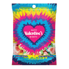 AMUSEMINTS HAPPY VALENTINES DAY GUMMY HEARTS 5 OZ PEG BAG
