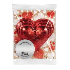 AMUSEMINTS FOIL RED HEART MILK CHOCOLATE 3OZ