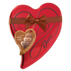 DOVE ASSORTED CHOCOLATES 6.5 OZ HEART TIN