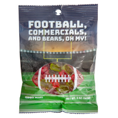 AMUSEMINTS GAME TIME GUMMY BEARS 5 OZ PEG BAG