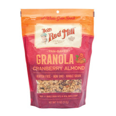 BOB'S RED CRANBERRY ALMOND GRANOLA 11 OZ PEG BAG