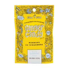 GEM GEM CHEWY LEMON GINGER CANDY 1.25 OZ PEG BAG