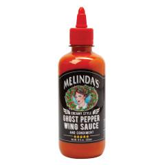 MELINDA'S CREAMY GHOST PEPPER WING SAUCE 12 OZ BOTTLE